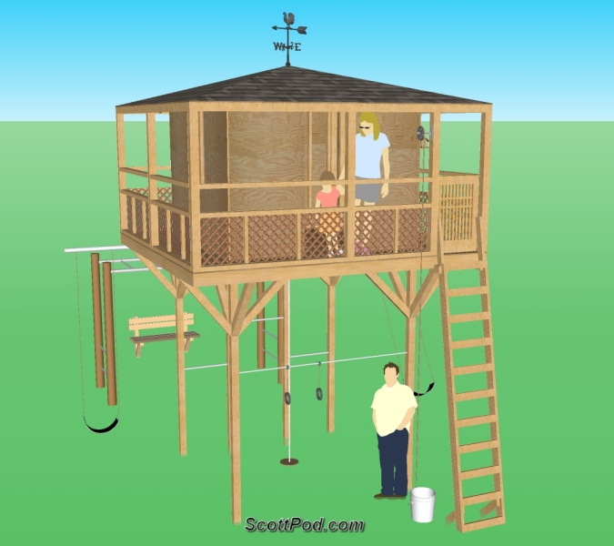 Plans for building a playhouse on stiltsfreewoodplans for Blueprints for playhouse