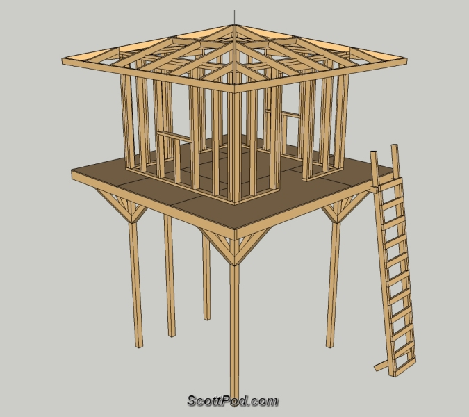 Woodworking plans playhouse on stilts PDF Free Download