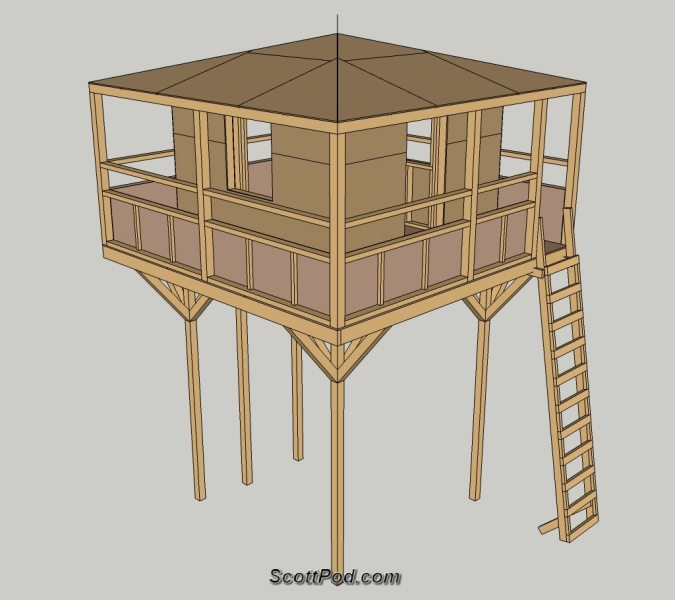 Pdf playhouse plans on stilts plans free for Blueprints for playhouse