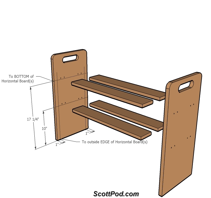Plans A Simple Shoe Rack